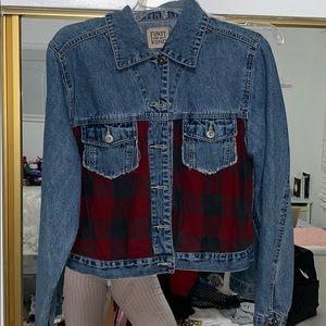 FURST OF A KIND flannel jean jacket
